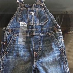 New 12-18 month osh kosh short overalls